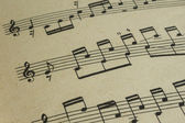The page in an old music book close up — Stock Photo