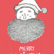 Christmas Card graphite illustration — Stock Photo