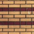 Shaped brick decorative brickwork background — Stock Photo