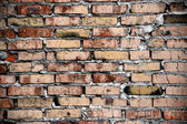 Brick joke brickwork background — Stock Photo