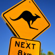 Kangaroo sign — Stock Photo