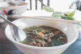 Boat Noodle , Moo nam tok — Stock Photo