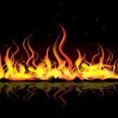 Llama de fuego — Vector de stock