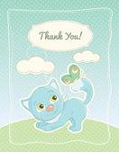 Baby junge danke standard postkarte — Stockvektor