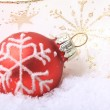 Red christmas balls Weihnachten — Stock Photo #31967243