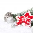 Christmas decoration red and silver — Stock Photo #35046069
