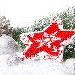 Christmas decoration red and white — Foto Stock