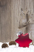Christmas, christmas ornament red — Stock Photo