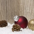 Christmas, christmas ornament red and brown — Stock Photo #36815087
