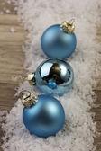 Bauble natal azul — Foto Stock