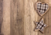Decoration with heart and star shape — Stock Photo