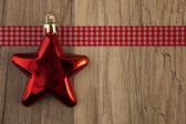 Moravian star red — Stock Photo