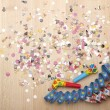 Party decoration for silvester — Stock Photo