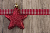 Moravian star red — Stock Photo