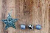 Christmas decoration turquoise — Stock Photo