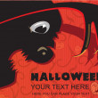 Stock Vector: Invitation to halloween