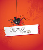 Halloween spiders — Stock Vector