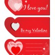 Stockvektor : Set of Valentines greeting cards