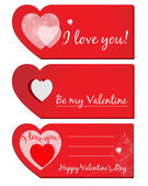 Set of Valentines greeting cards — Stock Vector