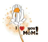день матери поздравления — Cтоковый вектор
