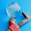 Stock Photo: Isolated caliper with earth