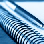 Taccuino e penna — Foto Stock