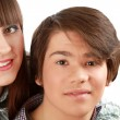 Portrait of young happy smiling couple — Stock Photo #32652759
