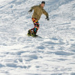 Stock Photo: Extreme snowboarding