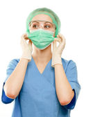 Portrait of serious nurse — Stock Photo