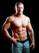 Jovem muscular saudável — Foto Stock