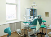 Modern Dentist's chair — Stock Photo