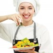 Portrait of a young cook — Stock Photo