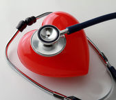 A heart with a stethoscope — Stock Photo