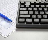 Closeup image of keyboard — Stock Photo