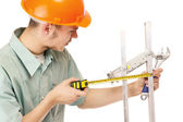 A young construction worke — Stock Photo