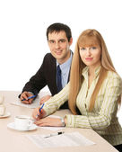 Businesspeople in the office — Stock Photo