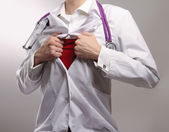 A superhero doctor — Stock Photo