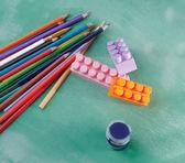 铅笔和油漆 — 图库照片