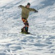 Stock Photo: Extreme snowboarding.