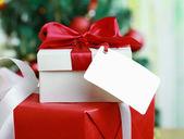 クリスマスのギフト ボックス. — ストック写真