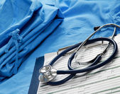 Doctor's stethoscope on the form — Foto de Stock