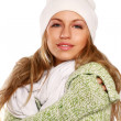 Stock Photo: Beautiful womdressed for winter