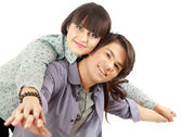 Portrait of young happy couple — Stock Photo