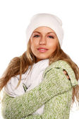 Beautiful woman dressed for winter — Stock Photo