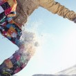 Snowboarder flying — Stock Photo