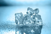 Ice with water drop — Stock Photo