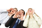 Business people shouting — Stock Photo
