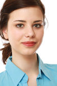 Closeup portrait of a young girl — Foto de Stock
