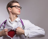A superhero doctor — Foto Stock