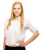 Portrait of a confident young woman — Stock Photo